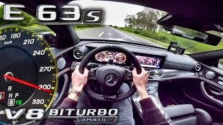 Mercedes AMG E63 S 2017 ACCELERATION & TOP SPEED AUTOBAHN POV by AutoTopNL
