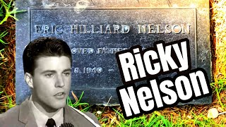 RICKY NELSON - Visiting The Teen Idol's Grave Site At Forest Lawn Cemetery, Hollywood Hills, CA