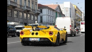 The new Ford GT driving in Milan !!!