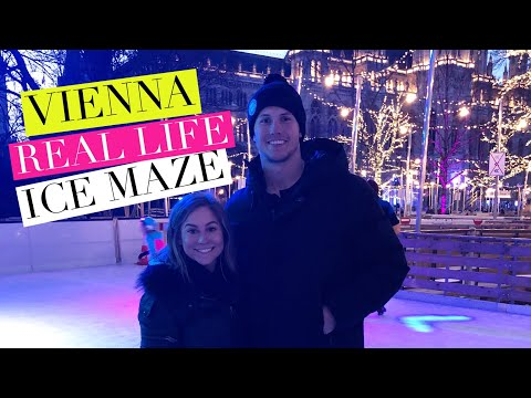 ICE SKATING A MAZE IN VIENNA!!   Shawn + Andrew