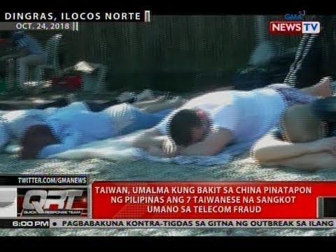 Taiwan, umalma kung bakit sa China pinatapon ng Pilipinas ang 7 Taiwanese na sangkot umano sa fraud