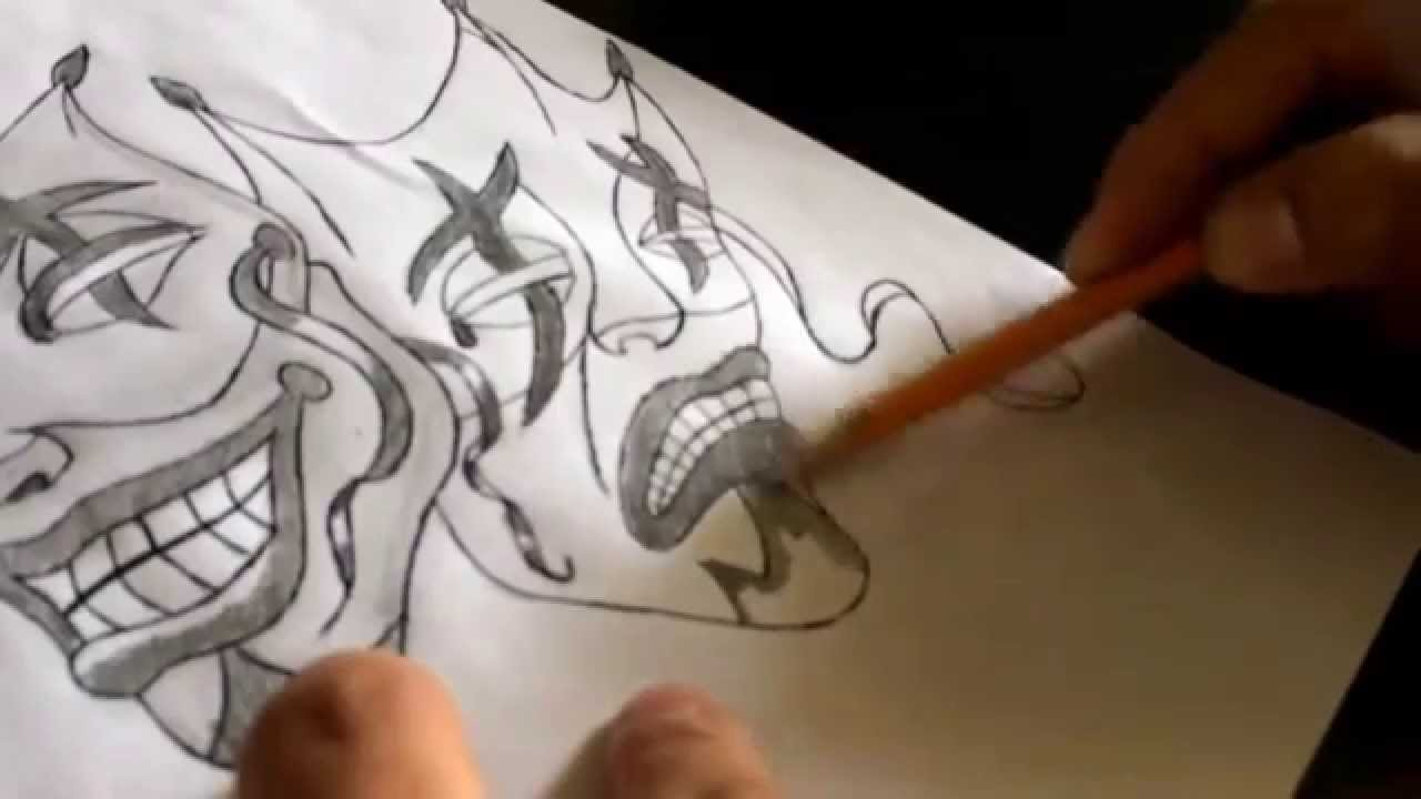 How To Draw Smile Now Cry Later Jester Masks Part 4 Youtube