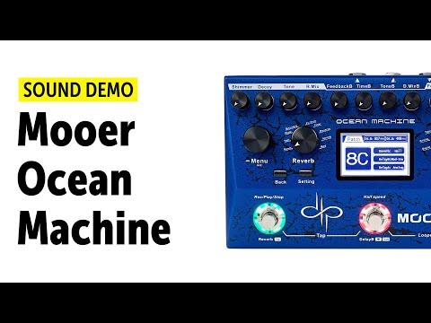 Mooer Ocean Machine Sound Demo (no talking) with Novation Peak Synthesizer