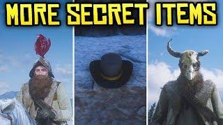 Red Dead Redemption 2 - 4 Unique & Secret Items! (Morion Helmet, Pagan Skull Mask & Nevada Hat)