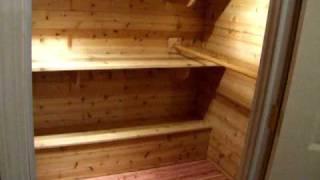 Finished Cedar Closet