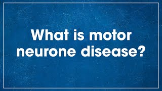 Ne motor nöron hastalığı nedir?
