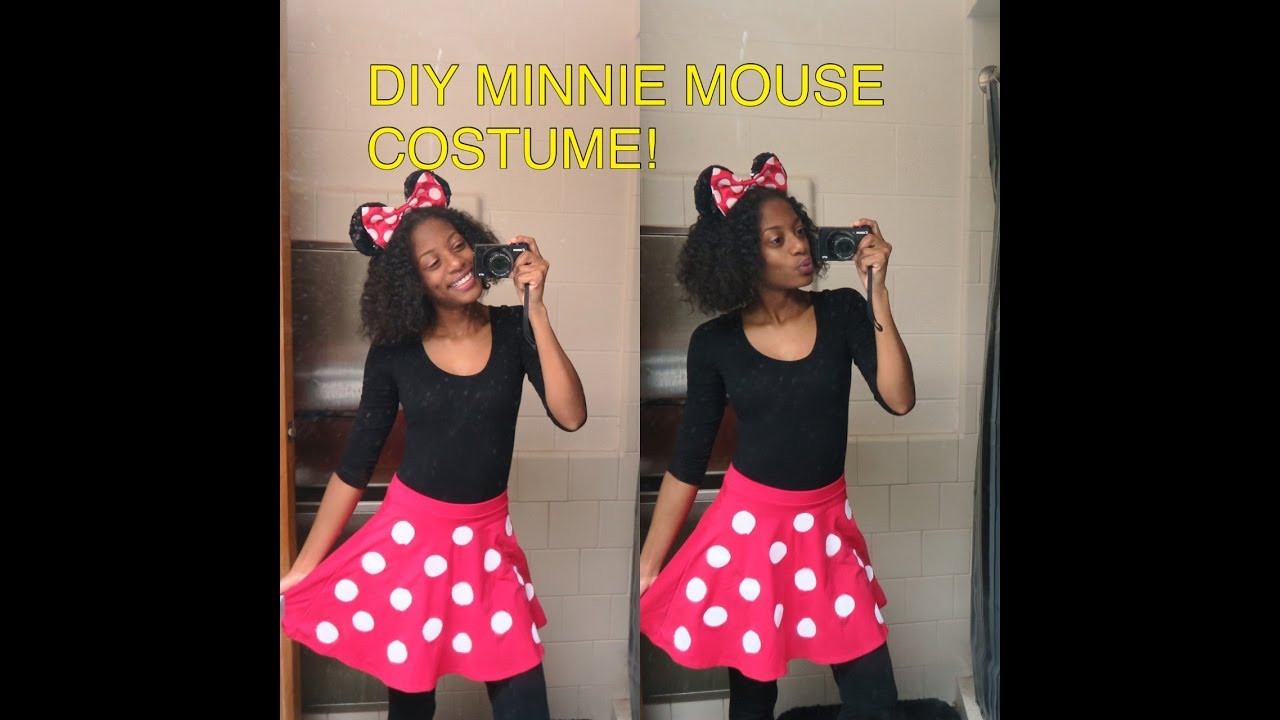 diy minnie mouse skirt/halloween costume under $20 - youtube