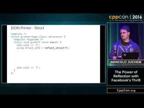 """CppCon 2016: Marcelo Juchem """"The Power of Reflection with Facebook's Thrift"""""""