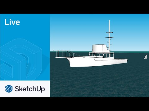 Modeling the boat The Orca from Jaws live in SketchUp