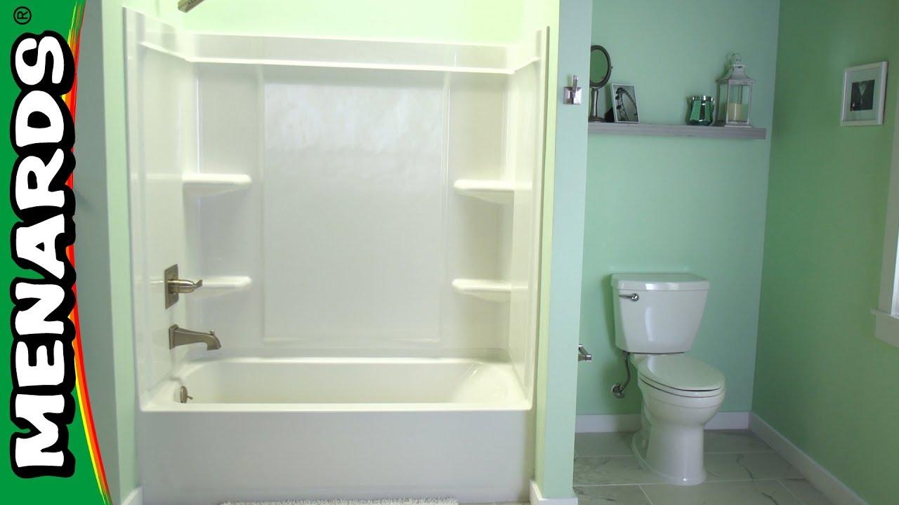 how to install a shower surround menards