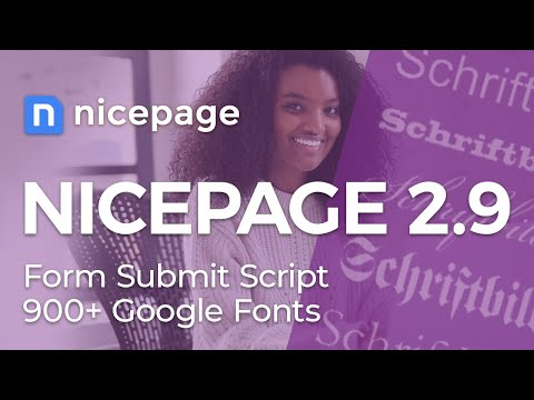 Nicepage 2.9: PHP Script For WordPress And Joomla. 900+ Google Fonts.
