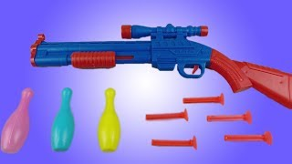 Colorful Awesome Toy Shotgun and Shoot Challenge | Best Toys
