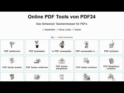 PDF Seiten löschen, trennen, zusammenfügen sortieren - Online ohne Software [PDF Datei bearbeiten] from YouTube · Duration:  2 minutes 22 seconds