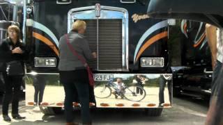 France 2011 American trucks near Francueil