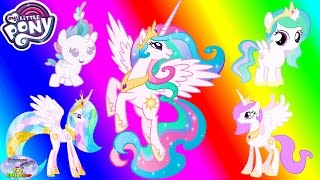 My Little Pony Transforms Princess Celestia Baby Alicorn Colors Surprise Egg and Toy Collector SETC
