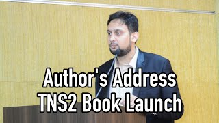 Author's Address  - TNS2 Book Launch