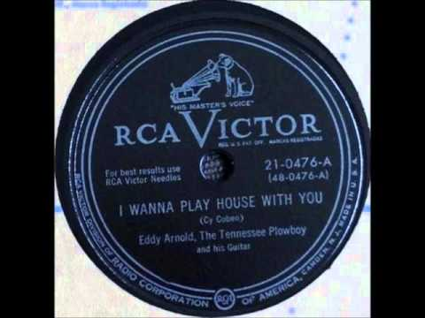 Eddy Arnold & Plowboys - I Wanna Play House With You playing on 1948 Wards Console Radio.