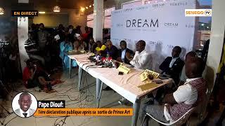 🔴 Direct Pape Diouf: 1ère déclaration publique après sa  sortie de Prince Art