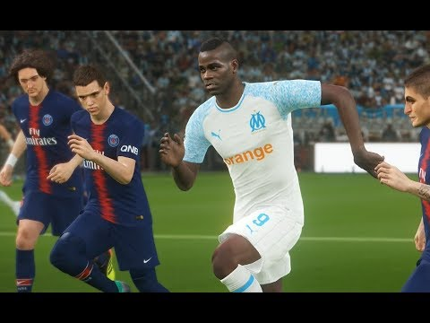 [PC] Balotelli vs PSG - Gameplay Nouveaux Maillots 2019 PES 2018