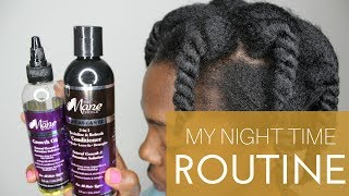 4C Natural Hair Night Time Routine ft. The Mane Choice | LCO Method for Low Porosity Hair