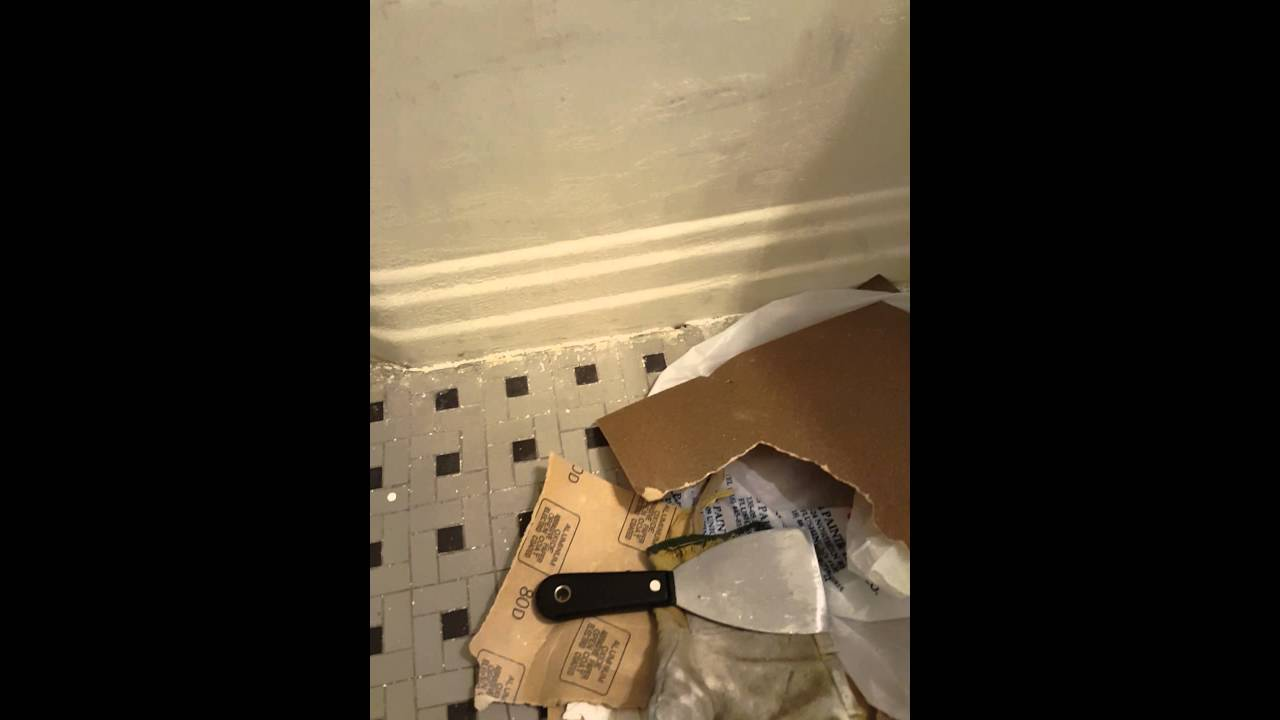 Refinishing my bathtub with bathworks tub refinishing kit..April ...