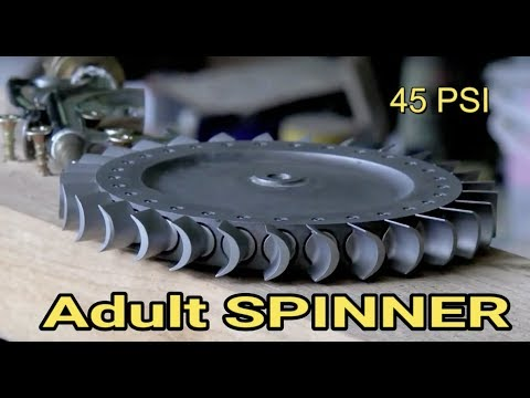 ADULT SPINNER TURBINE TEST Large Scale High RPM helicopter engine part for steam turbine