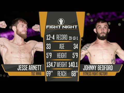 "Fight Night 4: Medicine Hat- Jesse ""Big Cat"" Arnett vs ""Brutal"" Johnny Bedford"