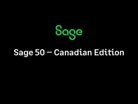 Sage 50 Canadian Edition Version 2020.1 Release Fix