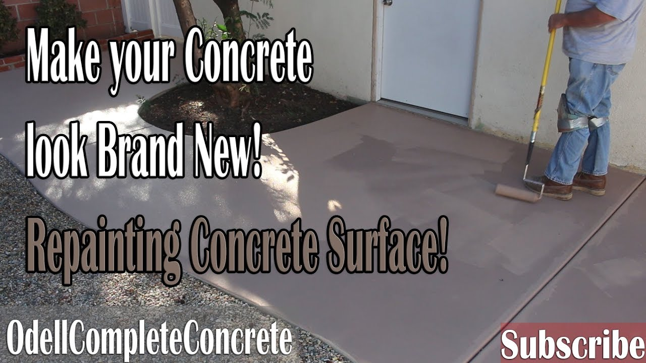 How To Paint Over Concrete Using Deckover Cover Up Your Stains S And Blemishes