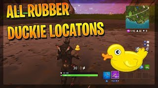 """Search Rubber Duckies"" All Rubber Duckies Locations - Fortnite Season 4 Week 3 Challenges!"