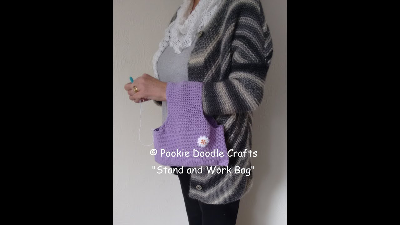 Stand and Work Yarn Bag - Crochet Tutorial and Free Pattern - YouTube