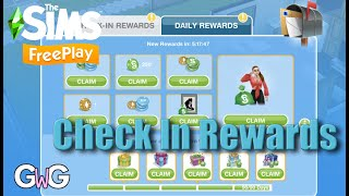 The Sims Freeplay- NEW FEATURE: Check In Rewards screenshot 2