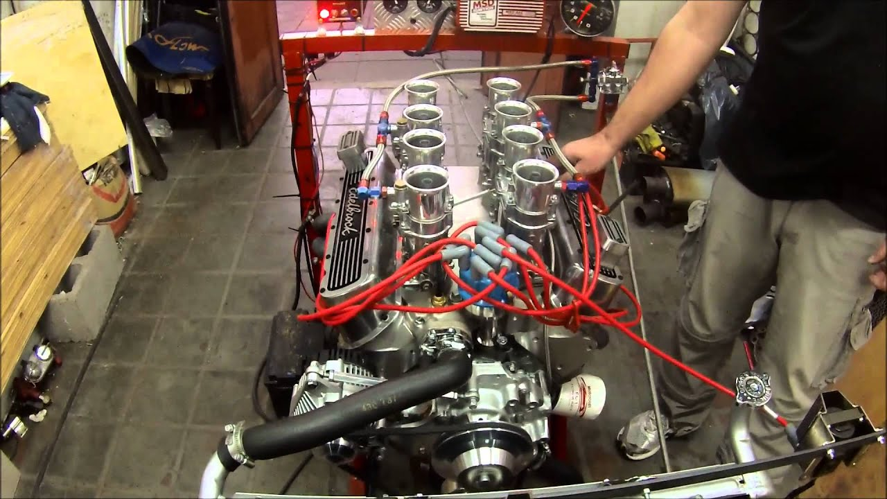 Motor V8 Ford V8 302 4 Weber 48 Ida Youtube