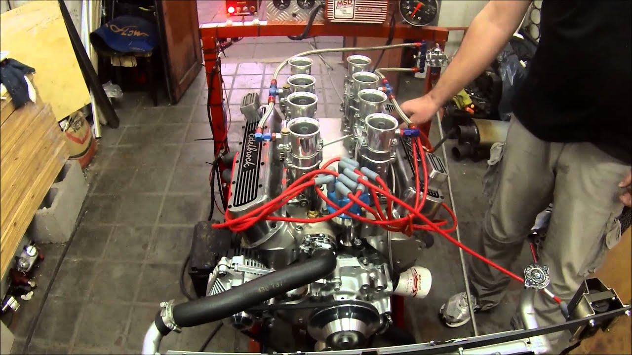 Motor v8 ford v8 302 4 weber 48 IDA - YouTube