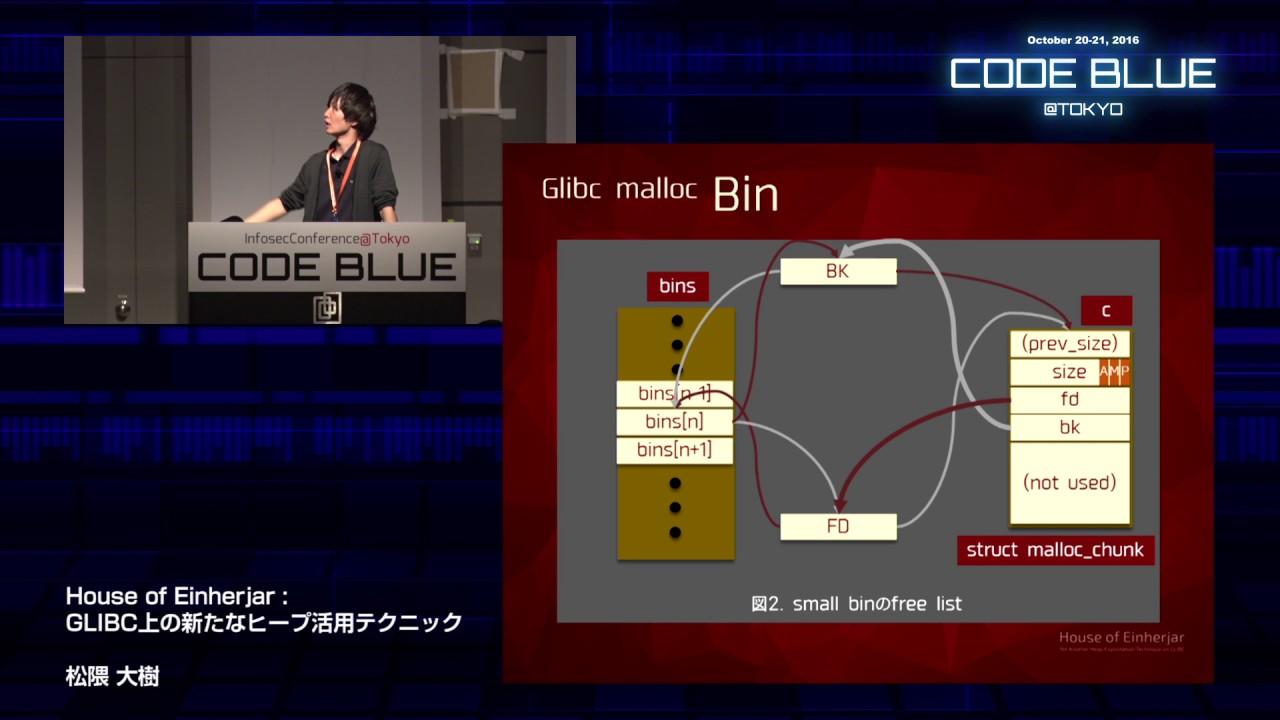 [CB16] House of Einherjar — Yet Another Heap Exploitation Technique on  GLIBC by Hiroki Matsukumao