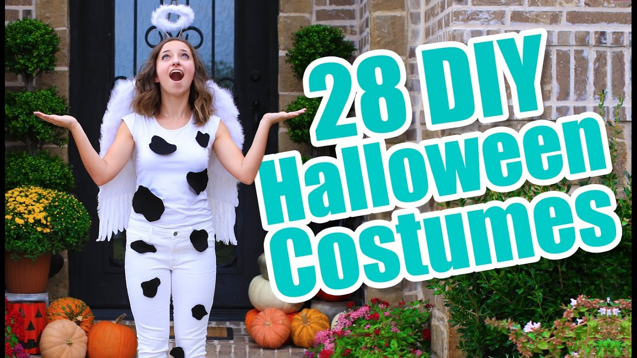 28 Last-Minute Halloween Costume Ideas | DIY Halloween Costumes - YouTube  sc 1 st  YouTube & 28 Last-Minute Halloween Costume Ideas | DIY Halloween Costumes ...