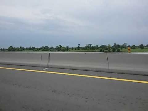 Pakistan Motorway M4(Gojra-Faisalabad section). Beautiful rainy weather.