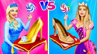 RICH VS. POOR DISNEY PRINCESSES! || Awkward Moments, Pranks and Unusual Food by RATATA BOOM