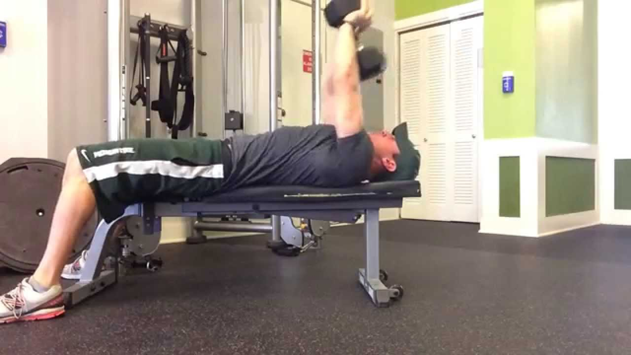 Dumbbell Pullover And Press - Online Personal Trainer - YouTube