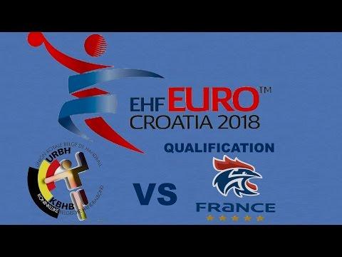 Belgique VS France Handball Euro 2018 Qualifications
