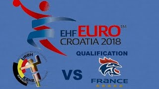 Belgique VS France Handball Euro 2018 Qualifications