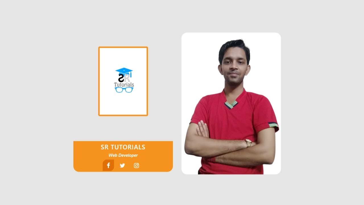 Team Card Hover Effect | Demo 3 | Html, Css & Bootstrap | SR Tutorials |