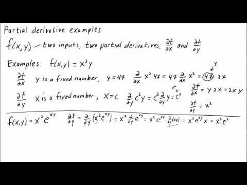 Partial derivative examples - Math Insight