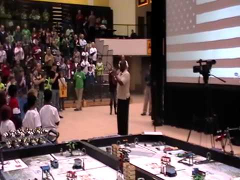 Marvin Mack Jones Sings National Anthem at FIRST Lego League Tournament