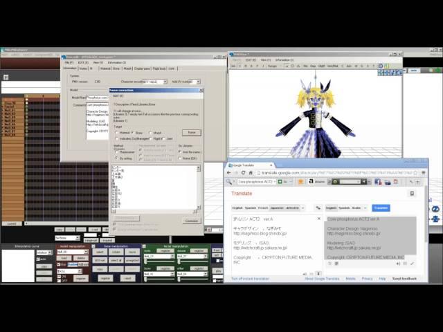MMD] Tutorial on translating a PMX model | MMD Amino