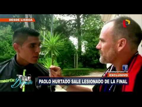 [Exclusivo] Paolo Hurtado sale lesionado en la final de Copa de Portugal