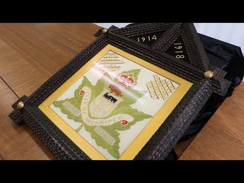 Embroidered badge highlights the 27th Battalion's battles during WWI