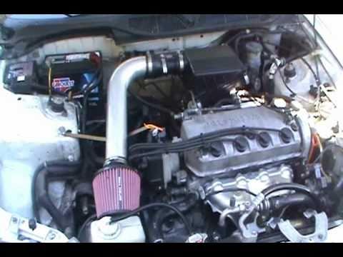 2000 honda civic engine diagram 2004 toyota 4runner trailer wiring short ram intake (1998 lx ) - youtube