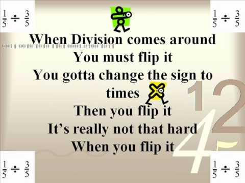 math worksheet : reciprocal flip it  youtube : Fraction Rap