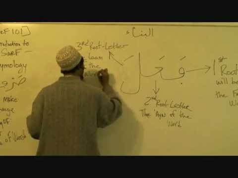 Sarf 101 part1 - Abu Taubah - Introduction to SARF - Arabic words etymology